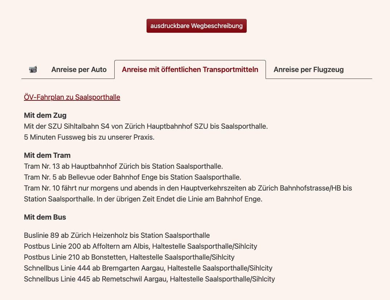 Anreise-Infos